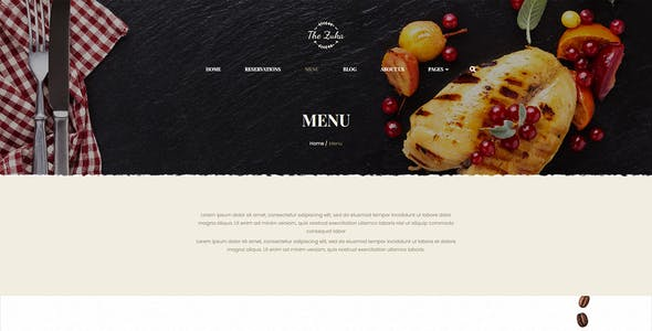 Zukares – Restaurant & Cafe Food  Elementor Template Kit