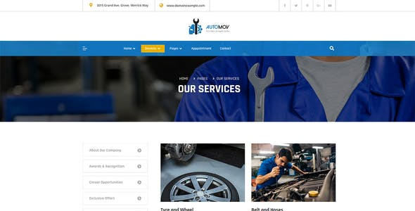 Automov - Car Repair &  Services Elementor Template Kit