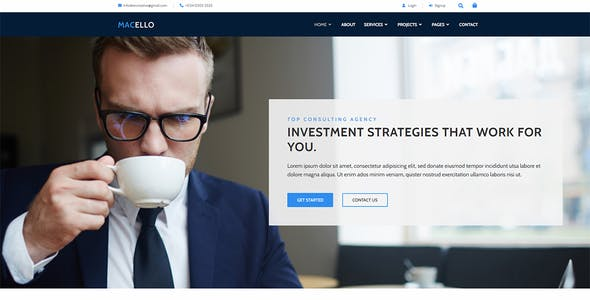 Macello - Business Consulting & Accounting  Elementor Template Kit