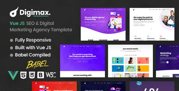 Digimax - Vue JS SEO & Digital Marketing Agency Template