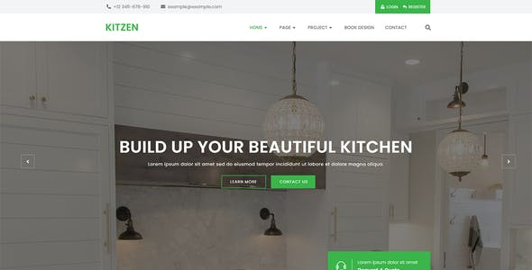 Kitzen   Modern Kitchen Elementor Template Kit