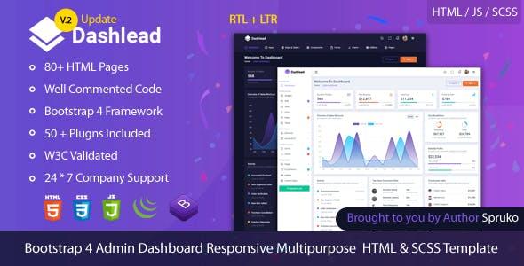 Dashlead –  Admin Panel HTML Template