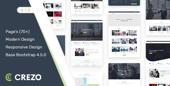 Crezo v1.0 – Multipurpose HTML5 Template