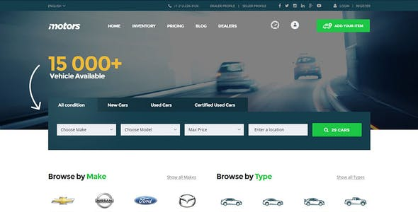 Motors - Car Dealer & Automotive Listing