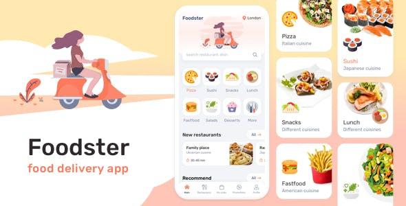Foodster – Food Delivery & Restaurant App Figma Template