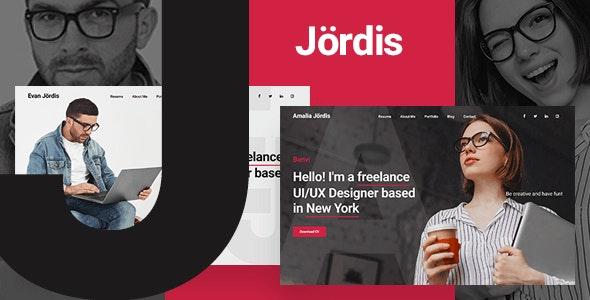 Jordis  - Bootstrap 4 Personal Portfolio Template - Portfolio Creative