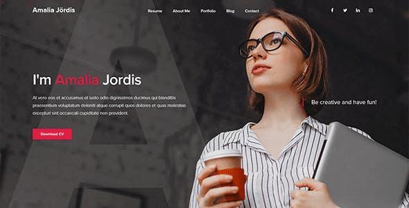 Jordis  - Bootstrap 4 Personal Portfolio Template