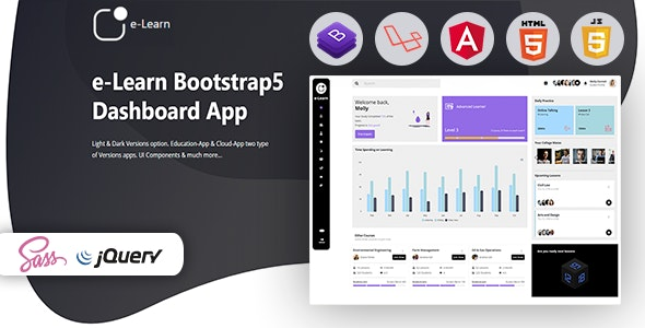 e-Learn - Education Bootstrap5 Admin Template & UI kit - Admin Templates Site Templates