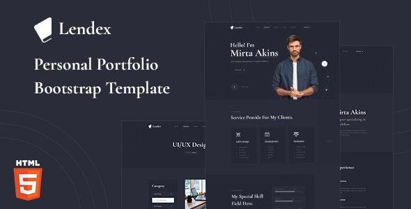 Lendex Personal Portfolio Bootstrap 5 Template