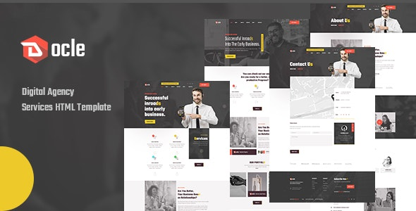 Docle - Agency Services HTML Template - Business Corporate