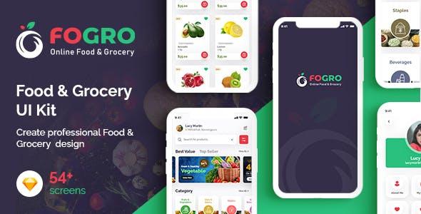 FOGRO   Food & Grocery App UI Kit for Sketch