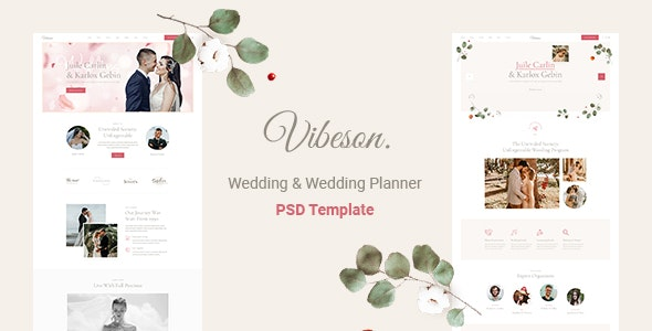 Vibeson - Wedding PSD Template - Events Entertainment
