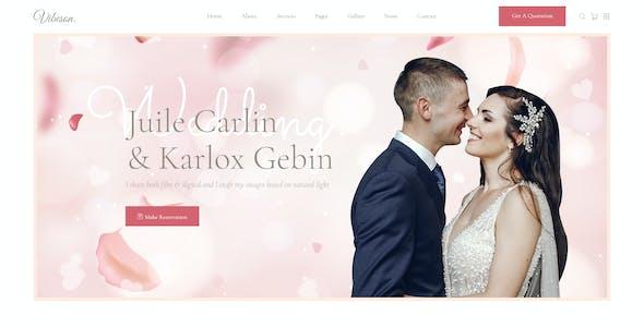 Vibeson - Wedding PSD Template