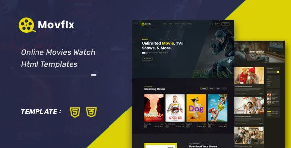 Movflx - Video Production and Movie HTML5 Template