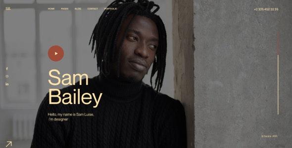 SamBailey v1.0 – Personal CV/Resume Figma Template