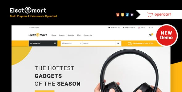 Electromart - ecommerce opencart theme