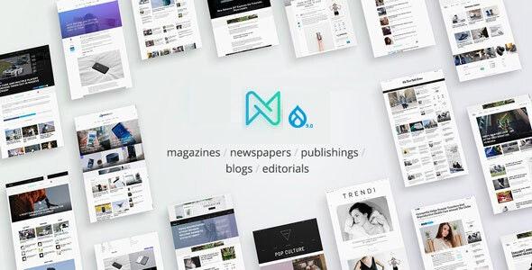 Newspaper - Optimized Drupal 9 RTL Magazine theme - Blog / Magazine Drupal