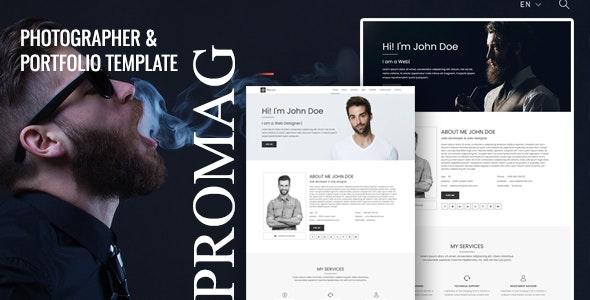Promag - Personal Portfolio Template - Portfolio Creative