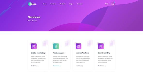 Saku - Business Agency Elementor Template Kit