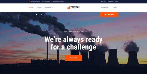 Dustri - Factory & Industrial Template Kit