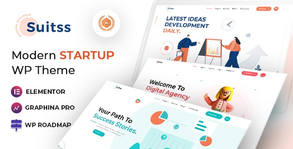 Suitss   Startup Business WordPress theme - Business Corporate
