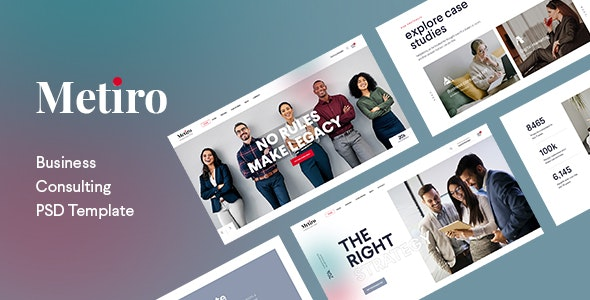 Metiro - Business Consulting PSD Template - Business Corporate