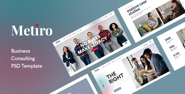 Metiro - Business Consulting PSD Template
