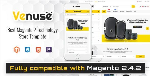 Venuse - Responsive Hitech/Digital Magento 2 Store Theme