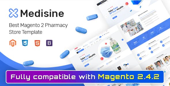 Medisine - Drug and Medical Store Magento 2 Theme