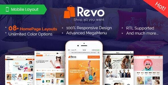Revo - Premium Responsive PrestaShop Theme for Mega Store with Mobile-Specific Layout