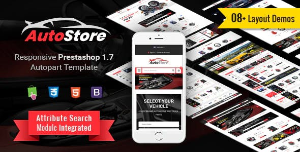 AutoStore - Responsive PrestaShop 1.7 Autopart Theme