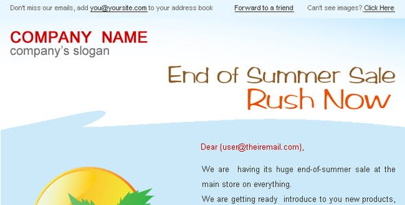 Holiday/Summer Discount Sale Newsletter - 2styles