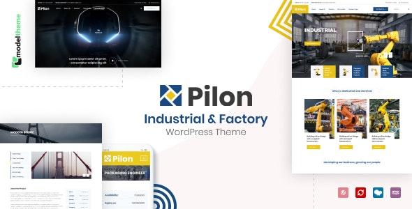 Pilon - Industrial & Factory WordPress Theme - Business Corporate