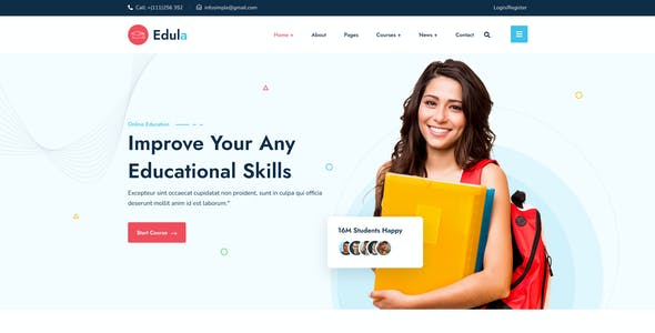 Edula – Online Education Figma Template