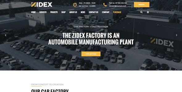Zidex - Industrial & Factory WordPress Theme