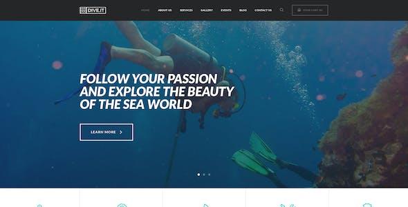 DiveIt -  Scuba Diving School, Sea Adventure & Travel WordPress Theme