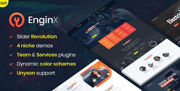 EnginX – Auto Repair Service WordPress Theme - Business Corporate