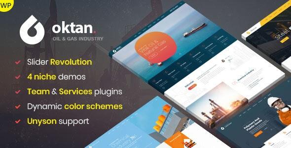 Oktan – Oil & Gas Industry WordPress Theme - Technology WordPress