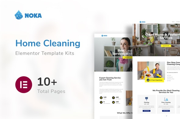 Noka - Cleaning Company Service Template Kit - Business & Services Elementor