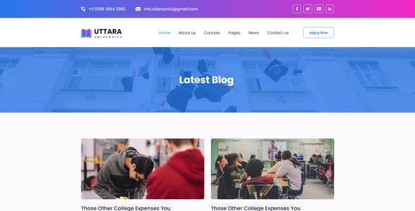 Uttara-Education Template