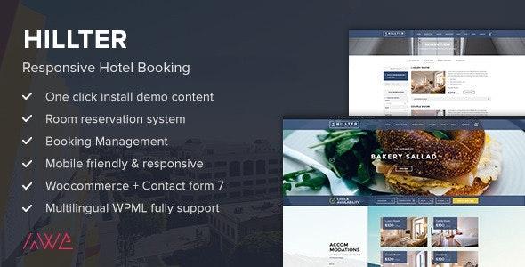 Hillter - Responsive Hotel Booking for WordPress - Travel Retail