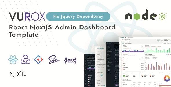 Vurox - React NextJs Admin Template - Admin Templates Site Templates