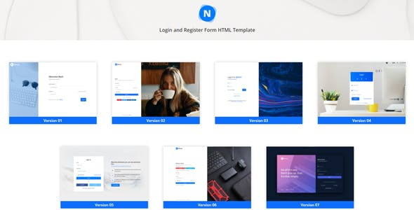 Nimoy - Login and Register Form HTML Template