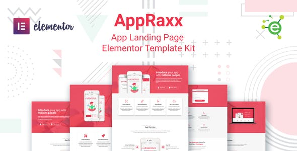 AppRaxx - App Landing Page Elementor Template Kit