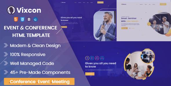Vixcon - Event & Conference Management HTML Template - Events Entertainment