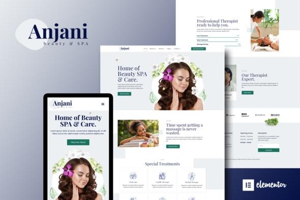 Anjani - Spa & Beauty Elementor Template Kit - Fashion & Beauty Elementor