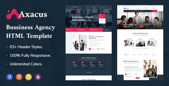 Axacus - Business Agency HTML Template - Business Corporate