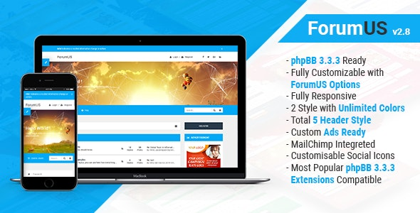 ForumUS | Responsive phpBB 3.3.3 Style / Theme - PhpBB Forums