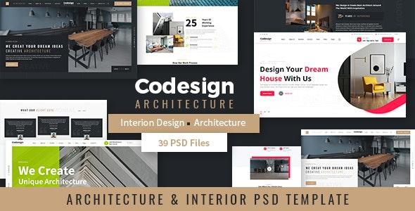 CoDesign - Architecture & Interior PSD Template - Creative Figma