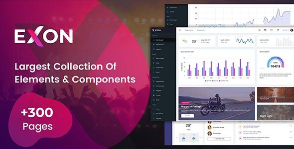 Exon - Bootstrap 4 HTML & Laravel Admin Dashboard Template